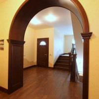 идея необычного декора спальни с аркой картинка