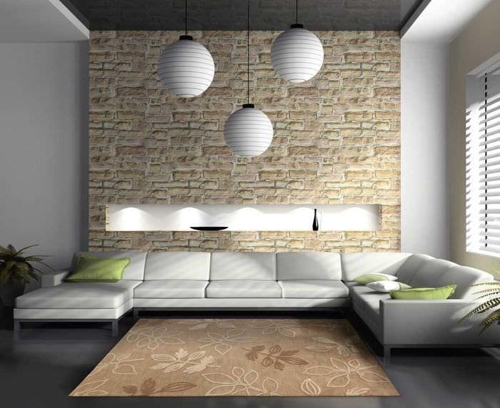 идея необычного декоративного камня в дизайне квартиры