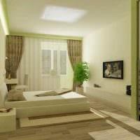 вариант красивого декорирования интерьера спальни картинка