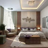 идея красивого декорирования стиля спальни картинка