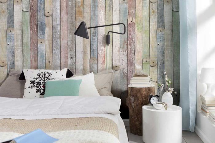 идея яркого дерева в стиле комнаты