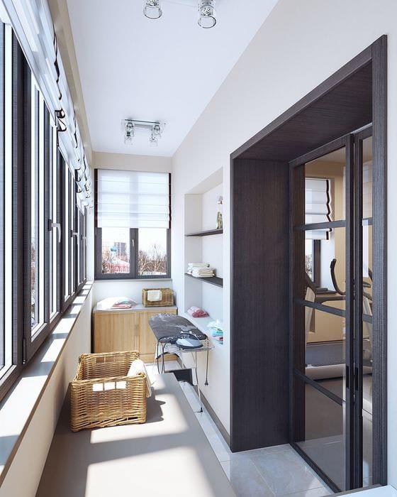 вариант красивого дизайна небольшого балкона