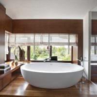 вариант необычного интерьера ванной комнаты в квартире картинка