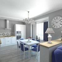 вариант оригинального интерьера квартиры картинка пример