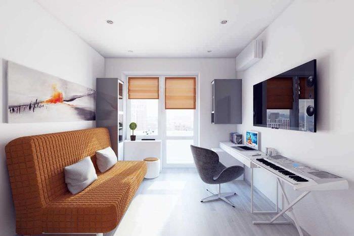 вариант красивого интерьера 2 комнатной квартиры