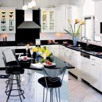 вариант необычного интерьера большой кухни фото