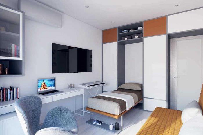 идея оригинального дизайна 2 комнатной квартиры
