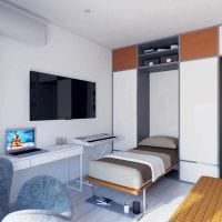вариант яркого интерьера квартиры фото