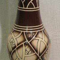 идея красивого оформления настольной вазы картинка