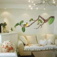 вариант оригинального украшения стен в помещениях фото