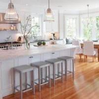 идея яркого дизайна кухни картинка