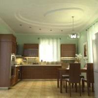 вариант оригинального интерьера большой кухни фото