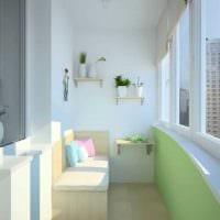 идея красивого декора маленького балкона фото