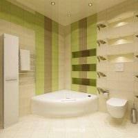вариант яркого интерьера ванной комнаты фото