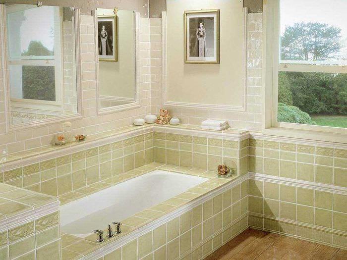 идея красивого интерьера ванной