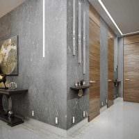 вариант красивой декоративной штукатурки в дизайне спальни под бетон картинка