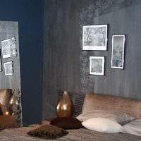 идея яркой декоративной штукатурки в стиле квартиры под бетон фото