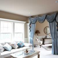 вариант красивых декоративных штор в дизайне квартиры фото