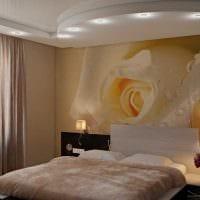 идея необычного дизайна спальни 3-х комнатной квартиры картинка