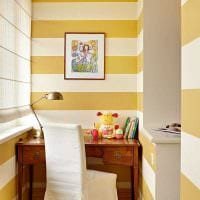 идея красивого интерьера небольшого балкона картинка
