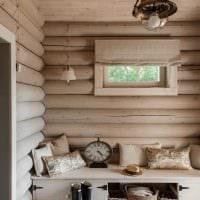 вариант необычного декора гостиной в деревенском стиле картинка
