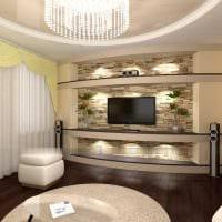 идея яркого декоративного камня в дизайне квартиры картинка