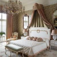 идея яркого декорирования дизайна спальной комнаты фото