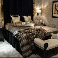 идея необычного декорирования стиля спальной комнаты фото