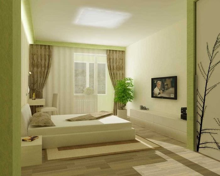 идея стильного декорирования стиля спальной комнаты