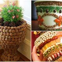 идея яркого декорирования настольной вазы фото