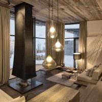 идея яркого дерева в дизайне комнаты картинка
