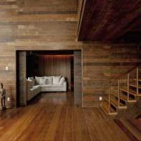 идея яркого интерьера дома в дереве картинка