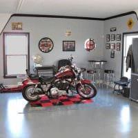 идея красивого оформления гаража фото