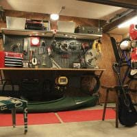 вариант современного дизайна гаража фото