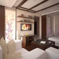 идея оригинального оформления гостиной комнаты 17 кв.метров картинка