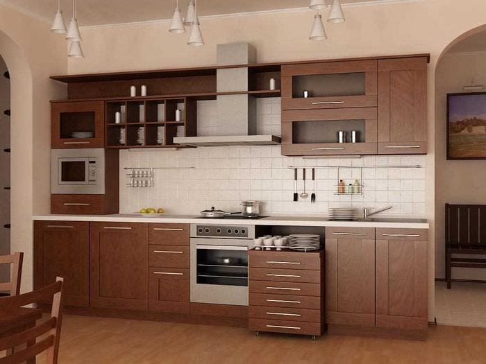 вариант оригинального стиля кухни