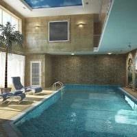 вариант современного стиля маленького бассейна фото