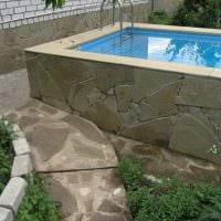 вариант оригинального стиля маленького бассейна фото