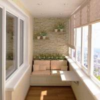 идея необычного дизайна маленького балкона картинка