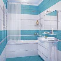 вариант оригинального интерьера ванной в квартире фото