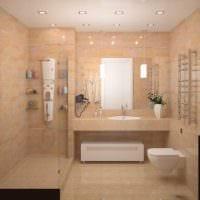 идея яркого дизайна ванной комнаты в квартире картинка