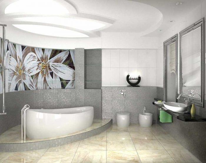 идея оригинального стиля ванной комнаты