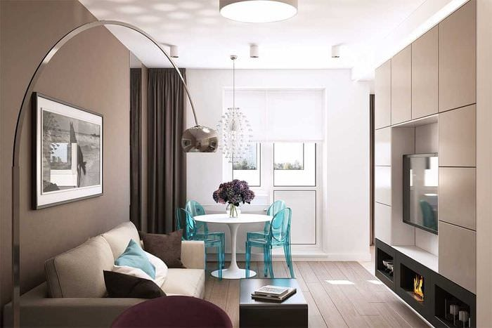 вариант яркого стиля квартиры