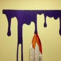идея красивого декора квартиры с декоративным рисунком на стене картинка