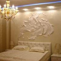 вариант оригинального дизайна комнаты с декоративным рисунком на стене фото