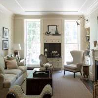 вариант современного интерьера гостиной комнаты 17 кв.метров картинка
