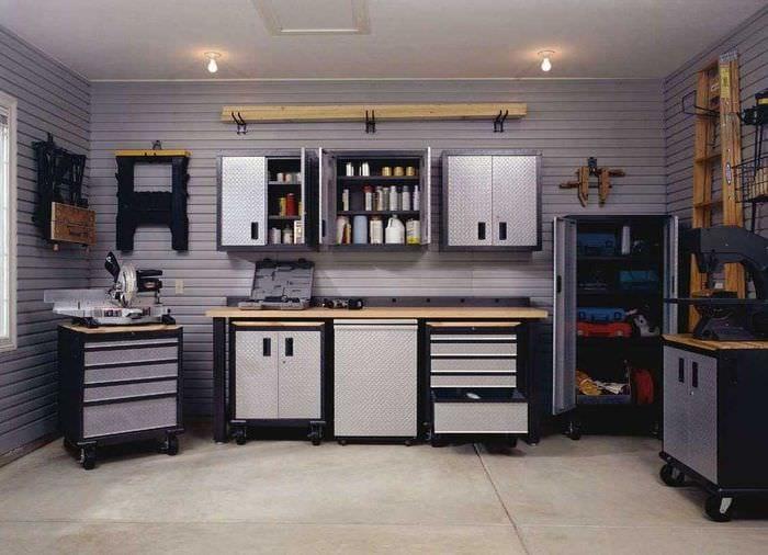 вариант современного оформления гаража