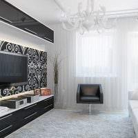идея яркого дизайна гостиной комнаты 17 кв.метров картинка