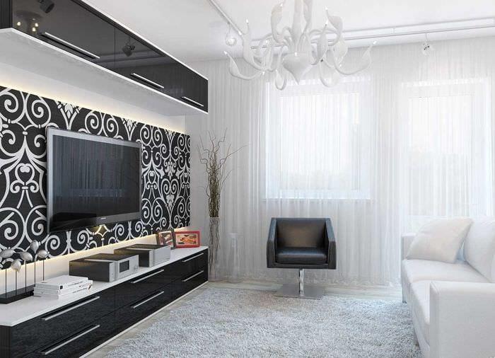 распоряжении дизайн гостиной в черно белых тонах фото этом ассортименте