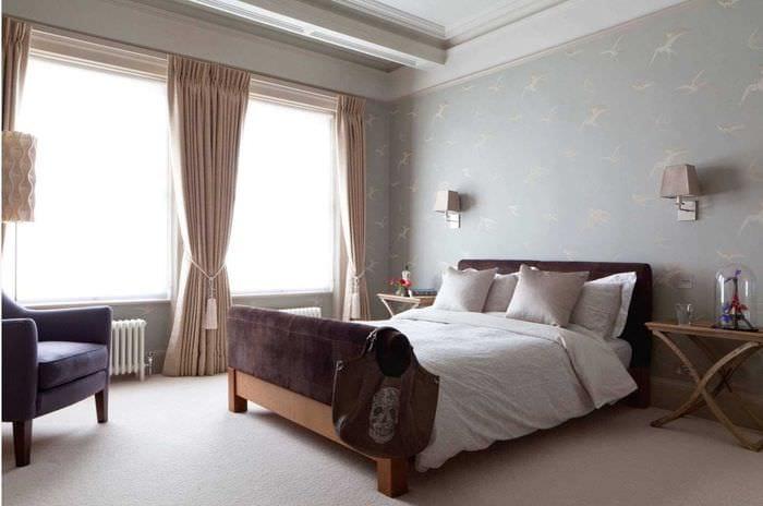 вариант яркого стиля комнаты 2017 года